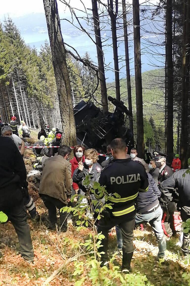 İtalyadaki korkunç kazada teleferik kabini 14 kişiye mezar olmuştu... İlk gözaltılar geldi